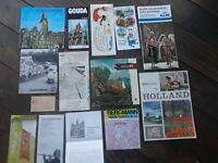 Vintage Holland Maps, Travel Brochures Etc 14 Pieces