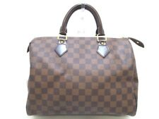 Auth LOUIS VUITTON Damier Speedy 30 N41531 Ebene Handbag SP3007