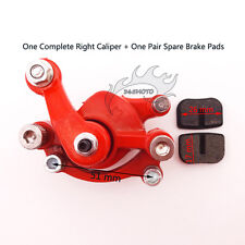 Rear Right Disc Brake Pads Caliper For 43 47 49cc Mini Pocket Dirt Bike Scooter