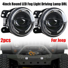 2pcs 4inch 30W Round LED Fog Light Driving Lamp DRL for Jeep Wrangler 2007-2017Y