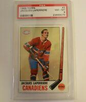 1968 Topps #58 Jacques Laperriere PSA 8 Canadiens HOF