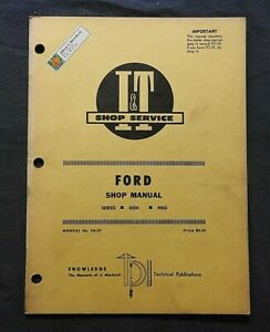 """1971 FORD """"8000 & 9000"""" TRACTOR I & T REPAIR SERVICE SHOP MANUAL NICE SHAPE"""