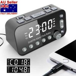 FM DAB Radio Clock DAB/FM Radio Sleep Timer Dual USB Ports Alarm Clock Bedside