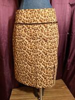 *Telluride Leopard Skirt Womens Sz 10 NWT $94 Closet269*