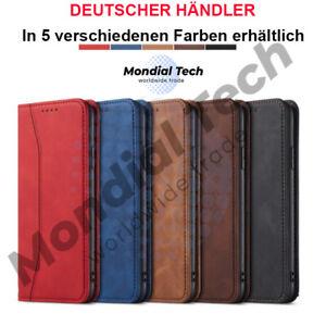 Handyhülle Für Apple Huawei Xiaomi Klapptasche Leder Case Klappbar Wallet Cover
