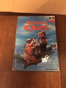 RETURN TO OZ Walt Disney Pictures Random House 1985 HB Book RARE Damaged Book