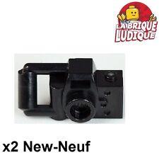 Lego - 2x Minifig utensil appareil photo camera type 2 noir/black 30089b NEUF