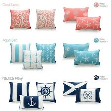 Hofdeco Outdoor Pillow Case WATER RESISTANT Beach Sea Nautical Cushion Cover