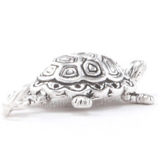 New listing 3D Tortoise Turtle Reptile Charm Pendant .925 Sterling Silver Detailed Shell 925
