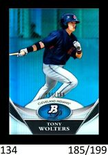 1-2011 BOWMAN PLATINUM BLUE REFRACTOR TONY WOLTERS ROCKIES /199 QTY