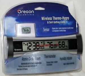 Oregon Scientific Wireless Thermo-Hygro & Atomic Clock Thermometer Humidity