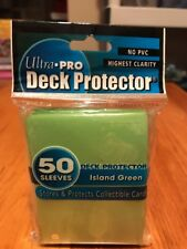 Ultra Pro Package of Card Sleeves  Island Green #81589  50 sleeves No PVC NEW