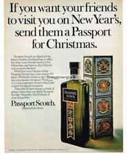 1969 Calvert PASSPORT SCOTCH Whiskey Vtg Print Ad