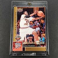 JAMES HARDEN 2009 UPPER DECK FIRST EDITION #188 ROOKIE RC THUNDER ROCKETS NBA