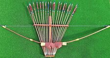 TRADITIONAL RECURVE ARCHERY SET WITH 20 ARROWS PLUS HOLDER