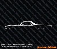 2X Car silhouette stickers - for Chevrolet El Camino 1978-1982 5TH GEN   classic