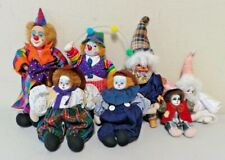 Estate Lot Rf Collection Clown Porcelain Dolls 7 pieces B