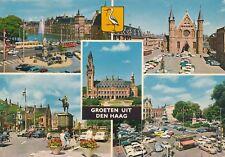 alte AK Grüße aus Den Haag - 5 Ansichten, Niederlande gelaufen Ansichtsk. B011b