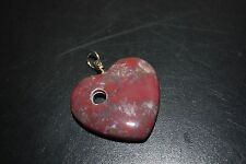 Jasper Heart shaped Pendant / charm