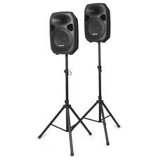 "Aktiv PA Set 700W Lautsprecher Set 12"" inkl. Stativen und Kabel - DJ Party Club"