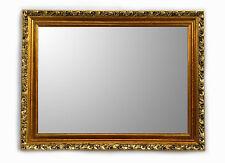 Specchiera Classica Rettangolare - 66x96 cm. - Specchio Bisellato Oro Anticato