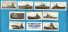 cigarette/trade cards Rockwell - LOST WARSHIPS OF WW11 - Full mint set