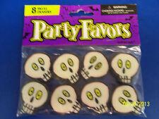 Skull Halloween Carnival Kids Birthday Party Favor School Supplies Mini Erasers