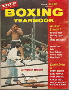 1961 BOXING YEARBOOK Patterson LISTON Dempsey & MORE!!!
