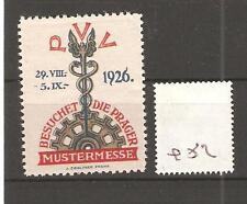 CINDERELLA -Q52- GERMANY - BESUCHET DIE PRAGER MUSTERMESSE - PVV - 1926