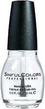 Sinful Colors Professional Nail Polish, Clear Coat 0.50 oz