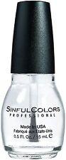 Sinful Colors Professional Nail Polish, Clear Coat 0.50 oz