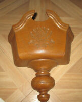 Vintage Wall Pocket Planter Federal Style Faux Wood Home Interiors USA