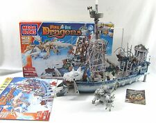 Mega Bloks 9879 Vorgan Ice Fang Fire Dragon Ship
