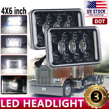 4x6 LED Headlights For Kenworth T800 Freightliner FLD120 Peterbilt 379 Isuzu NPR
