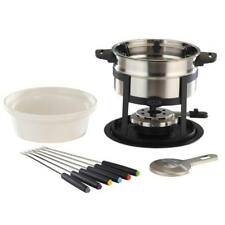 Classic Stainless Steel Fondue 12 Piece Set For Cheese Chocolate Dipping 1.6L