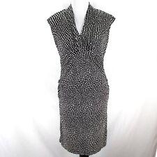 2dd024941cc Mimi Maternity Dress Sz M Black Ivory Sleeveless Ruched Side Stretch Rayon