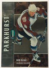 2002-03 ROB BLAKE PARKHURST BRONZE PARALLEL #112 AVALANCHE #008/100