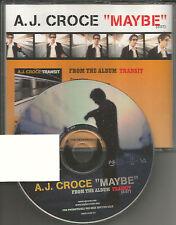 A.J. CROCE Maybe 2000 RARE PROMO Radio DJ CD Single USA MINT aj