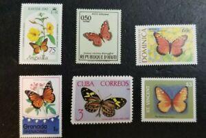 Butterflies Papillons Vlinder Schmetterlinge MNH Variety