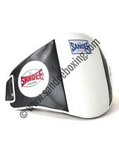 Sandee Velcro Black & White Leather Belly Pad Muay Thai Boxing MMA UFC