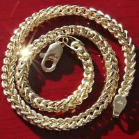 "10k yellow gold diamond cut Franco link chain bracelet 8.5"" vintage 3.9gr"