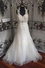 1206W KENNETH WINSTON SZ 12 STYLE 1488 $1323 IVORY SILVER WEDDING DRESS GOWN