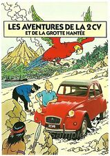 VINTAGE CITROEN 2CV FRENCH ADVERTISING A4 POSTER PRINT