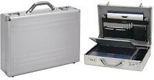 ALUMAXX Laptop Attachékoffer silber Notebook Koffer Netbook 17