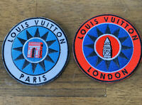 BRAND NEW Louis Vuitton Iron On Patch Lot Paris Globe Explorer Parka