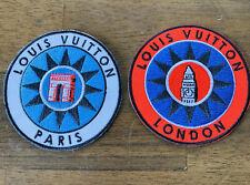 BRAND NEW Louis Vuitton Iron On Patch Lot Paris Globe Malletier Explorer Parka