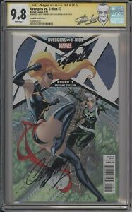 AVENGERS VS. X-MEN #3 - CGC 9.8 - VARIANT SIGNED BY STAN LEE AND CAMPBELL