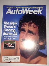 Autoweek Magazine Alain Prost The World Champ December 1, 1986 011717RH