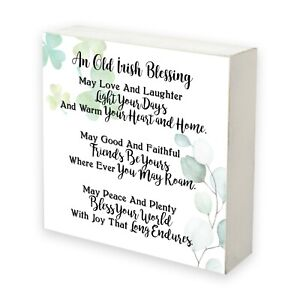 Inspirational Irish Shadow Box Wall Décor For Home Living Room Décor 6x6in