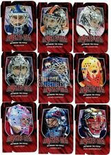 2011-12 In The Game Between The Pipes Masked Men 4 Ruby Red Die-Cut Insert Set